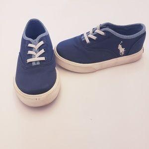 Polo Ralph Lauren size 8 toddler shoes slip on boa